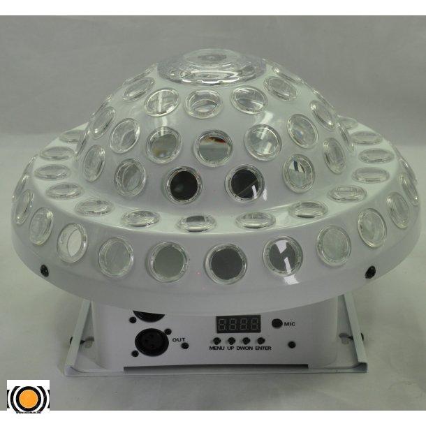 Diskokule LED DMX 9 Farger med 150mv  Rød & Grønn Laser