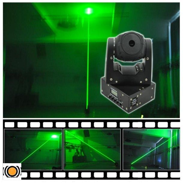 Laser Grønn Mini Moving Head Fat beam 150mW 650nm