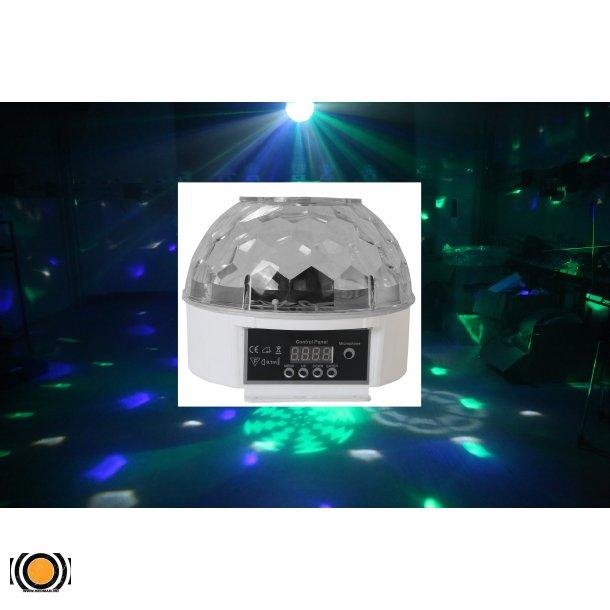 Diskokule LED 4 Farger med goboer DMX