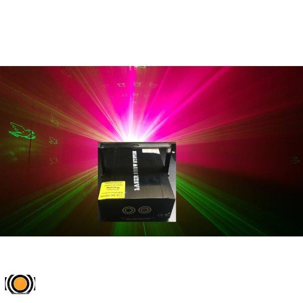 Laser Rød&Grønn 40 Figurer R 100 mw+ G 50mw
