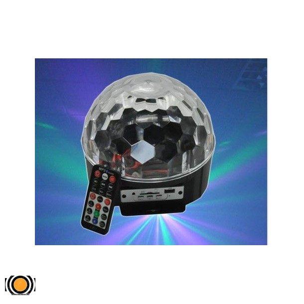 Diskokule LED 6 Farger med innebygd Høytaler og fjernkontroll