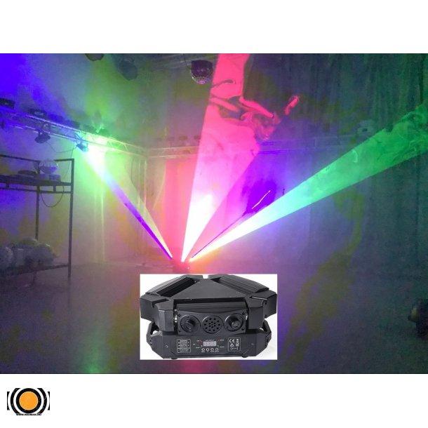 Moving Head 9 hoders RGB Laser