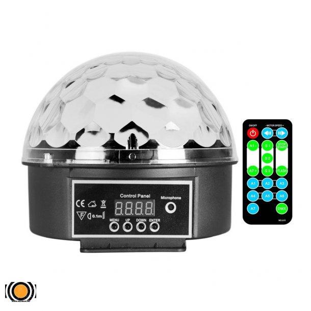 Diskokule LED 9 Farger med fjernkontroll