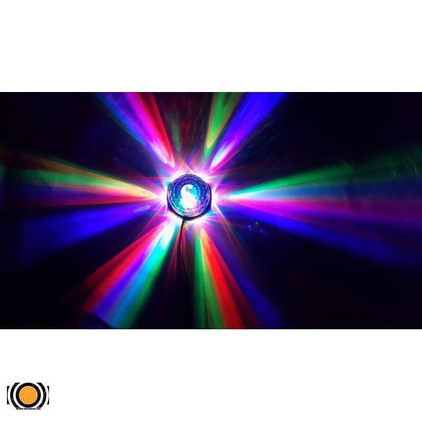 Diskokule LED 3 Farger + Sollys effekt