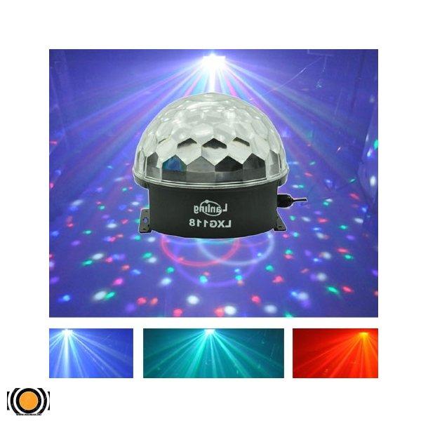 Diskokule LED 6 Farger