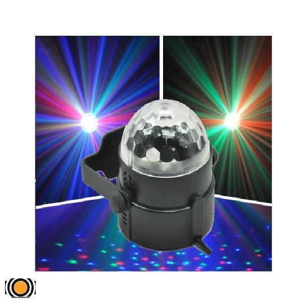 Diskokule LED 3 Farger med fjernkontroll