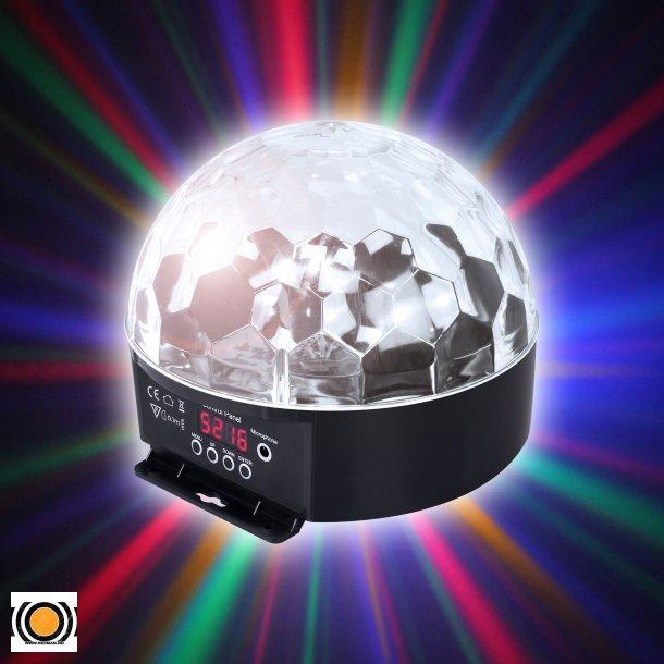 Diskokule LED 6 Farger DMX